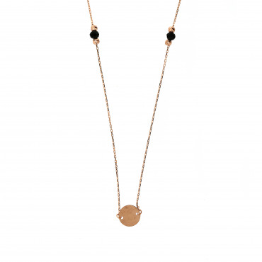 Rose gold pendant necklace CPR24-02