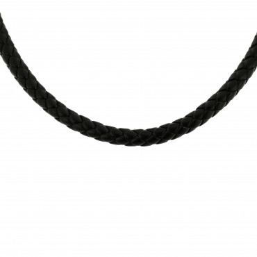 Leatherette necklace CPK02-02-7.00MM