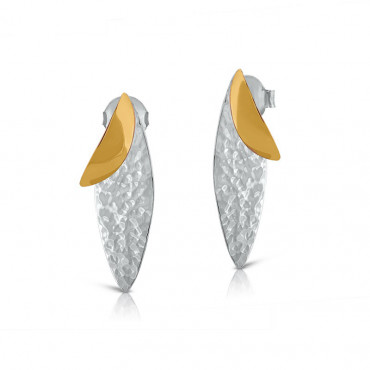 Gold plated silver earrings FID03-E108S