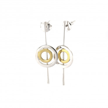 Gold plated silver earrings FID04-E051