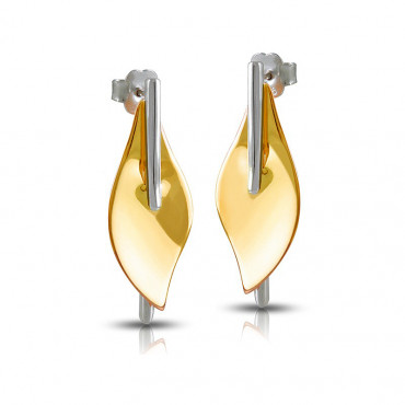 Gold plated silver earrings FID08-E028