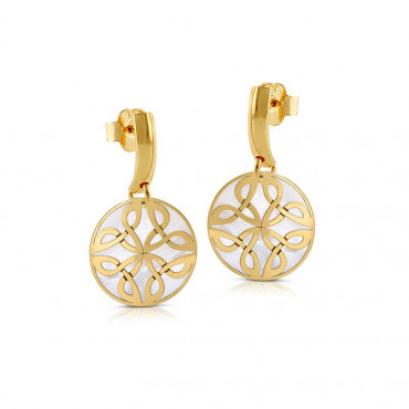 Gold plated silver earrings FID15-E08-18