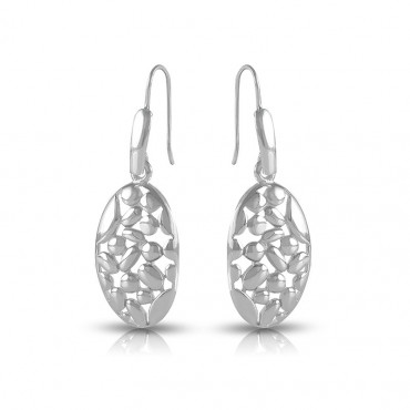 Silver drop earrings FID21-E05