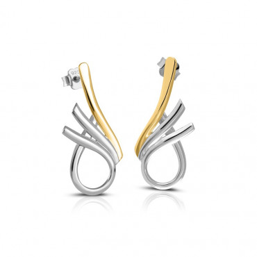 Gold plated silver earrings FID22-E03
