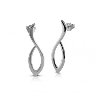 Silver earrings FID22-E09