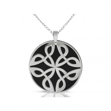 Sterling silver necklace pendant FID15-P06-30