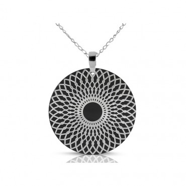 Sterling silver necklace pendant FID15-P07-30