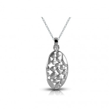Sterling silver necklace pendant FID21-P05