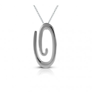 Sterling silver necklace pendant FID22-P07