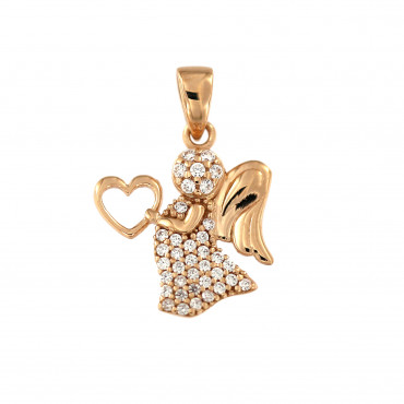 Rose gold angel pendant ARA01-14