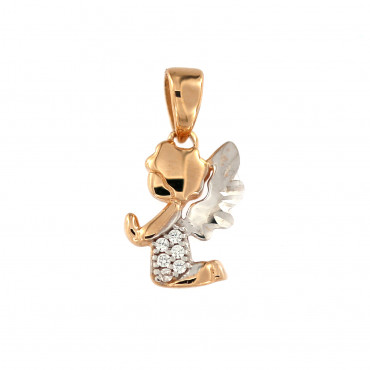 Rose gold angel pendant ARA01-17