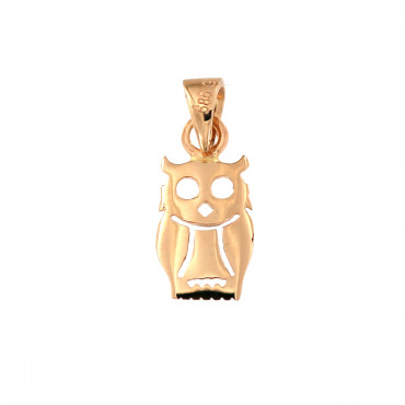 Rose gold owl pendant ARG04-03