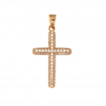 Rose gold cross pendant ARK04-14