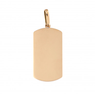 Rose gold tag pendant ARPL01-02