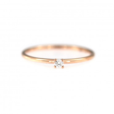 Rose gold ring with diamond DRBR01-01