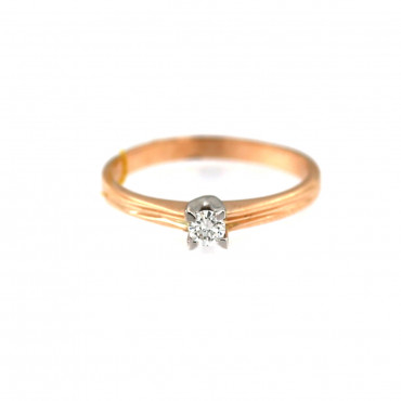 Rose gold ring with diamond DRBR01-04