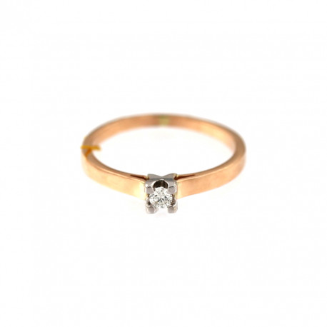 Rose gold ring with diamond DRBR01-05