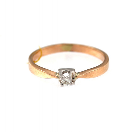 Rose gold ring with diamond DRBR01-06