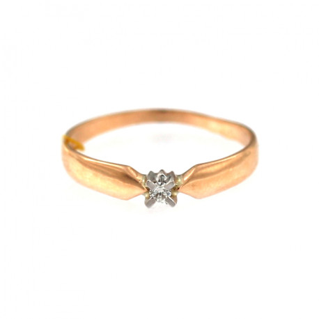 Rose gold ring with diamond DRBR01-08