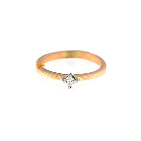 Rose gold ring with diamond DRBR02-02