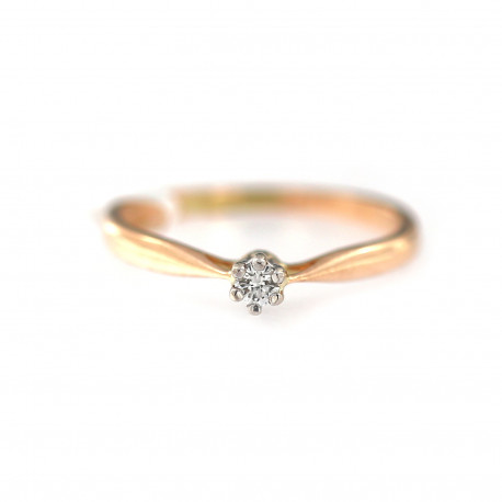 Rose gold ring with diamond DRBR03-01