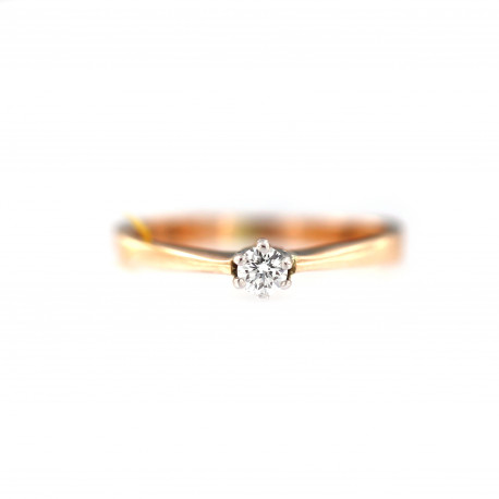 Rose gold ring with diamond DRBR03-02