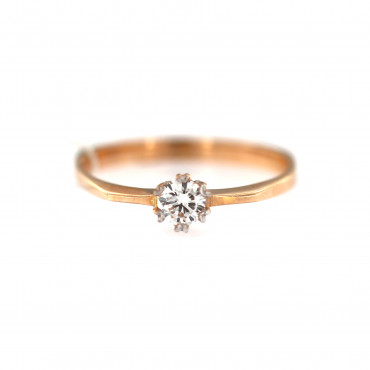 Rose gold ring with diamond DRBR03-03
