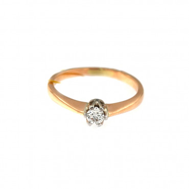 Rose gold ring with diamond DRBR03-04