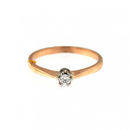 Rose gold ring with diamond DRBR03-06