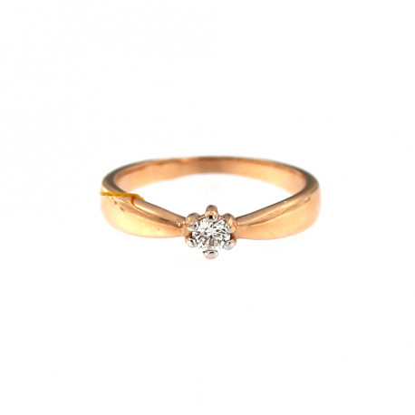 Rose gold ring with diamond DRBR03-07