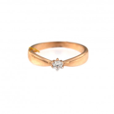 Rose gold ring with diamond DRBR03-08