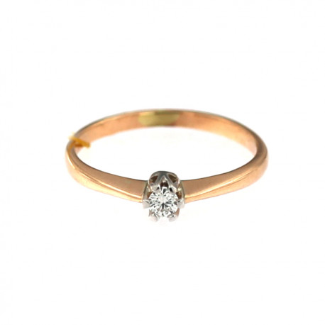 Rose gold ring with diamond DRBR03-09