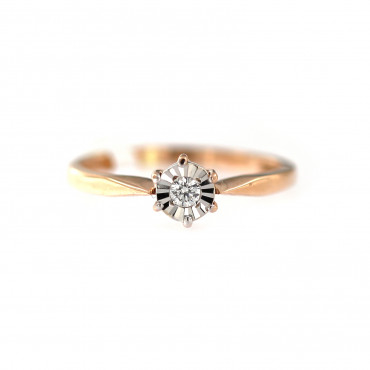Rose gold ring with diamond DRBR04-01