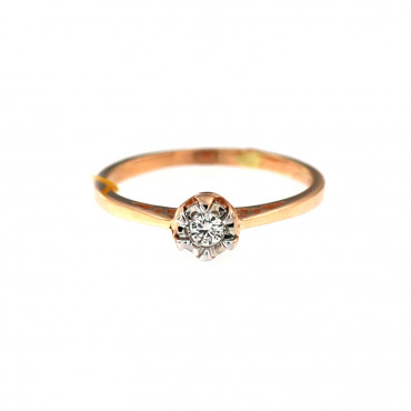 Rose gold ring with diamond DRBR04-02