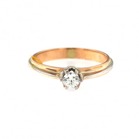 Rose gold ring with diamond DRBR04-03
