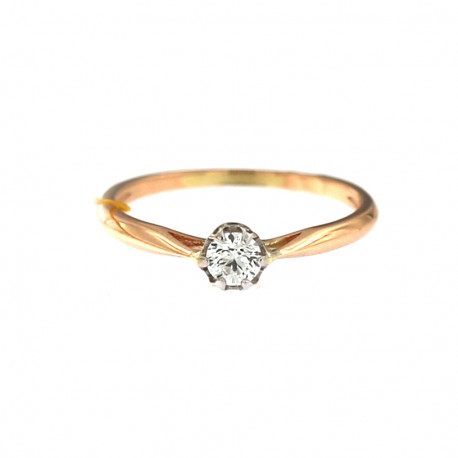 Rose gold ring with diamond DRBR04-04