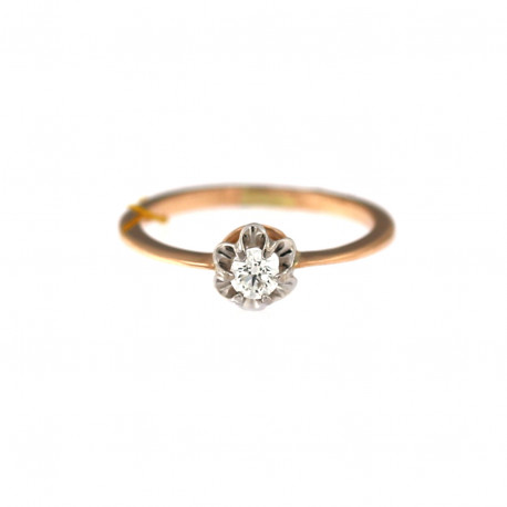 Rose gold ring with diamond DRBR04-06