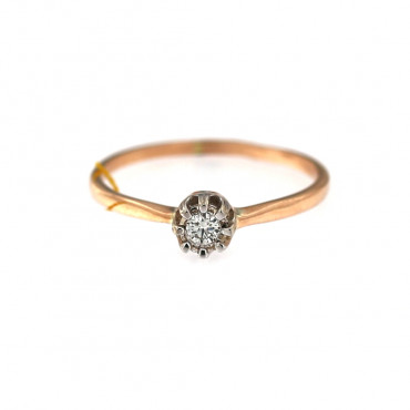 Rose gold ring with diamond DRBR04-08-2