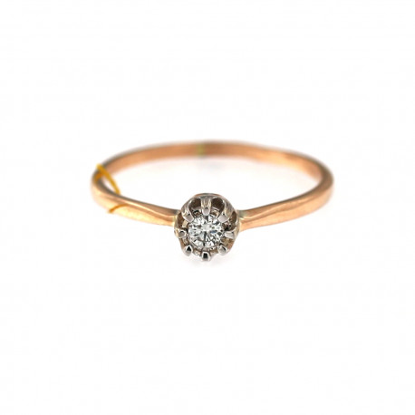 Rose gold ring with diamond DRBR04-08