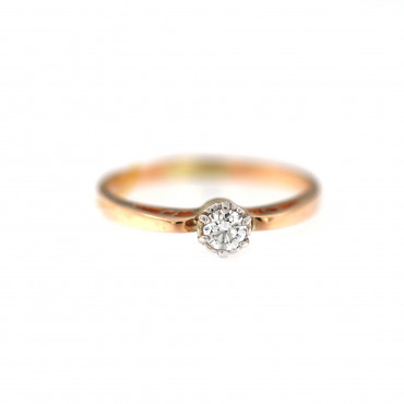 Rose gold ring with diamond DRBR04-09-1