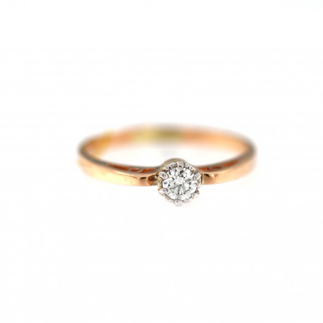 Rose gold ring with diamond DRBR04-09