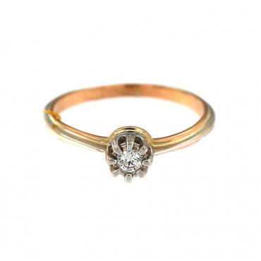 Rose gold ring with diamond DRBR04-11