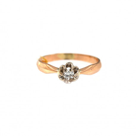 Rose gold ring with diamond DRBR04-13