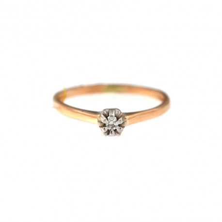 Rose gold ring with diamond DRBR04-14