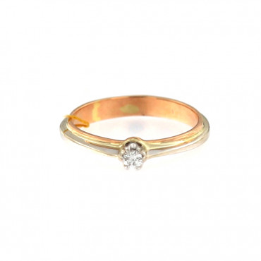 Rose gold ring with diamond DRBR04-15