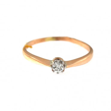 Rose gold ring with diamond DRBR04-16-2