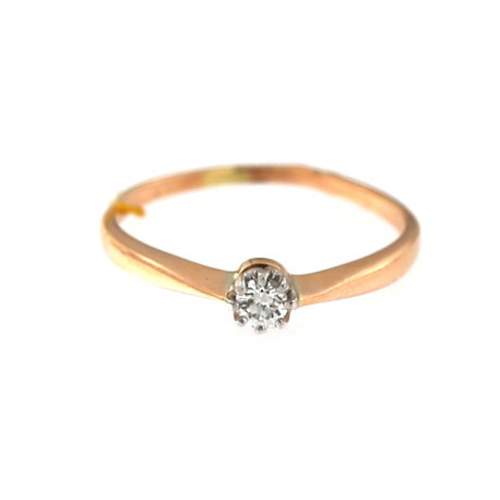Rose gold ring with diamond DRBR04-16