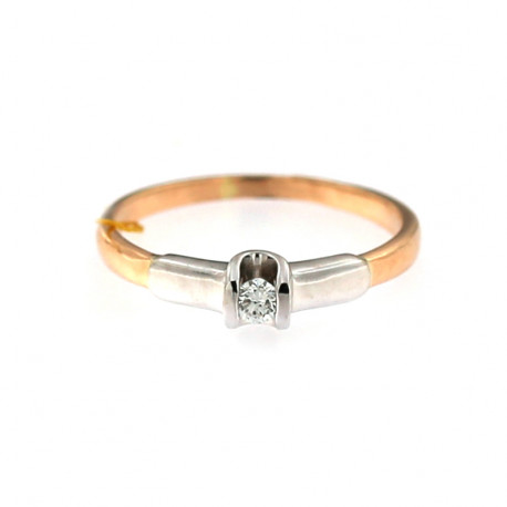 Rose gold ring with diamond DRBR05-01