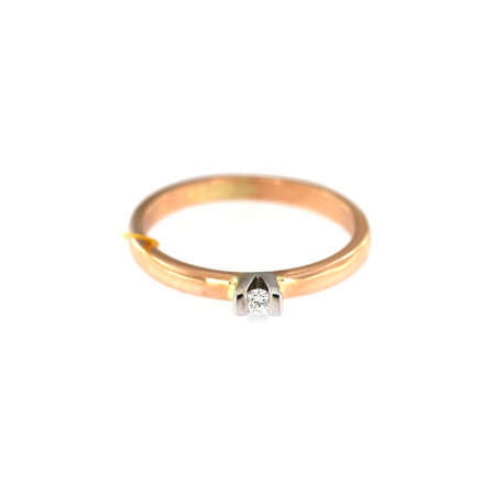 Rose gold ring with diamond DRBR05-04