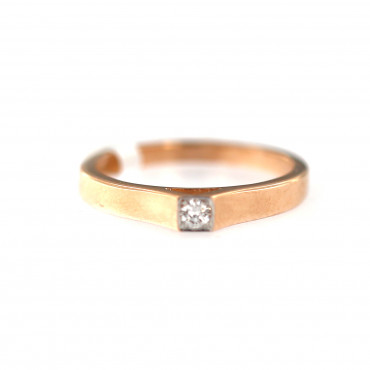 Rose gold ring with diamond DRBR06-01